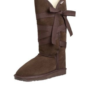 Brown Emu lace up boots wool and suede size 9